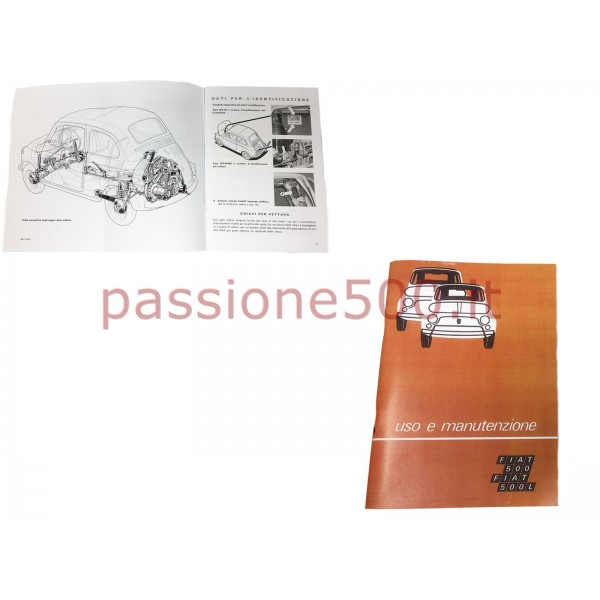 OWNER'S MANUAL FIAT 500 F L to 1972 (copy)