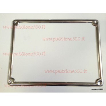 LICENSE PLATE REAR FRAME IN INOX STEEL - HIGH QUALITY - FIAT 500