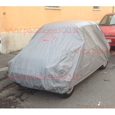 GREY CAR COVER WITH LOGO FIAT 500 N D F L R