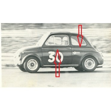 GIANNINI SIDE TRIM SET - 4 pcs. - IN METAL FIAT 500
