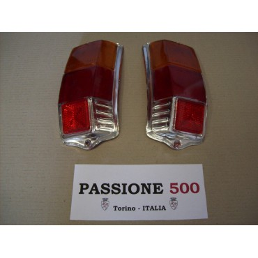COUPLE OF REAR LENS FOR TAIL LAMPS - ALTISSIMO TYPE - FIAT 500 F L R