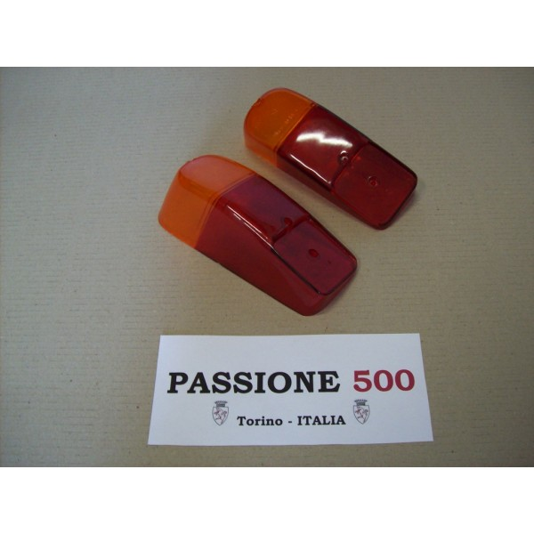 COUPLE OF REAR LENS FOR TAIL LAMPS FIAT 500 N D