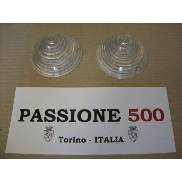 COUPLE OF FRONT LAMP LENS FIAT 500 N D