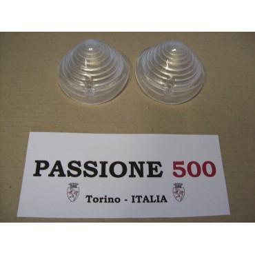 COUPLE OF FRONT LAMP LENS FIAT 500 R