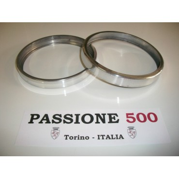 "COUPLE OF ALUMINIUM FRAME  ""SLIM TYPE"" FOR HEADLAMPS FIAT 500 N"