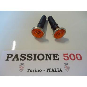 COUPLE OF YELLOW SIDE TURN LAMP AUTOBIANCHI 500 GIARDINIERA