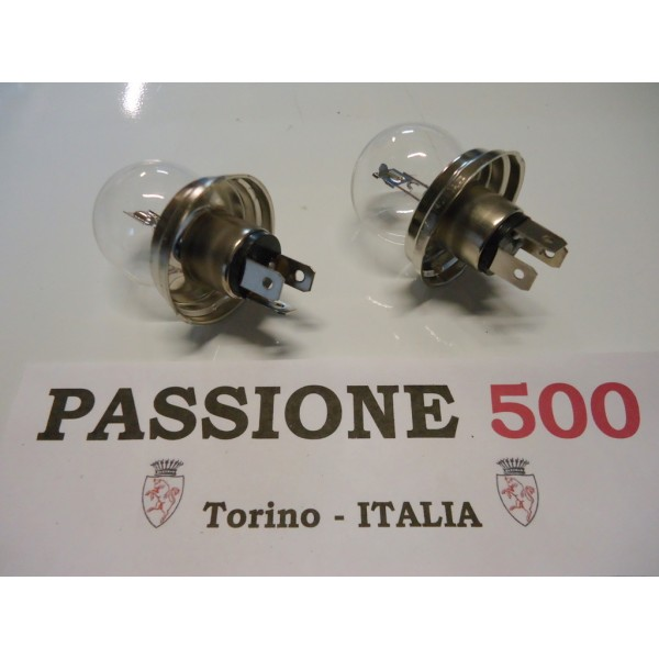 COUPLE OF BULBS 12V 45/40W FOR HEADLAMPS FIAT 500 F L R GIARD