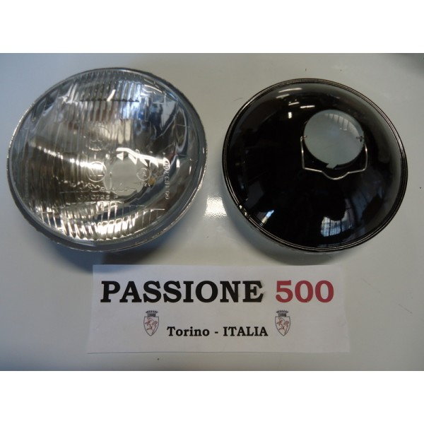 COUPLE OF HEADLAMPS TYPE CARELLO FIAT 500 D