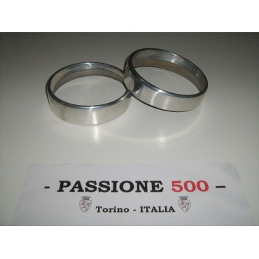 COUPLE OF ALUMINIUM FRAME FOR HEADLAMPS FIAT 500 N D