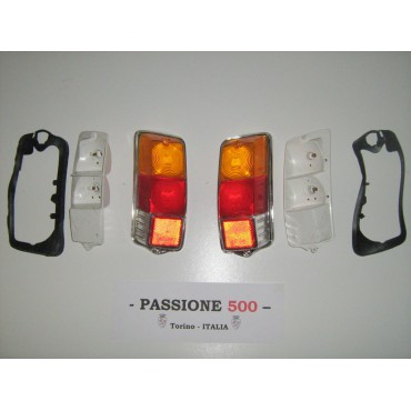 COUPLE OF COMPLETE TAIL LAMPS - STAR TYPE - FIAT 500 F L R