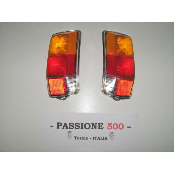 COUPLE OF REAR LENS FOR TAIL LAMPS - STAR TYPE - FIAT 500 F L R