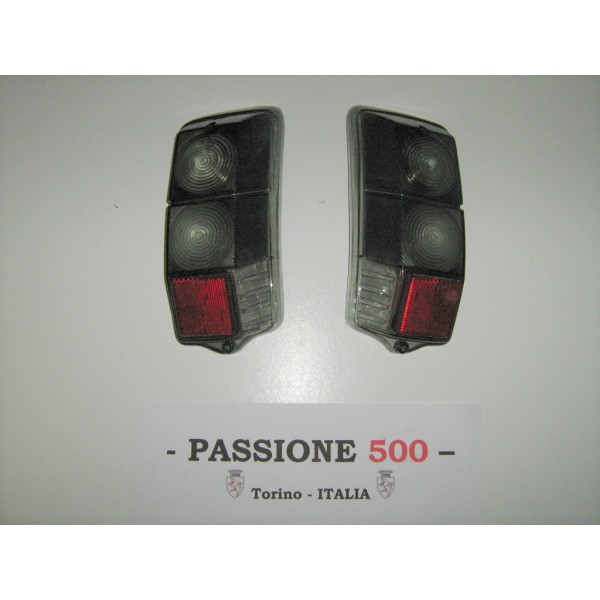 COUPLE OF GREY REAR LENS FOR TAIL LAMPS FIAT 500 F L R