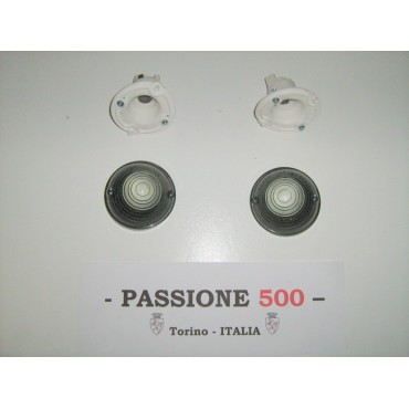 COUPLE OF GREY FRONT LAMP FIAT 500 F L R GIARD