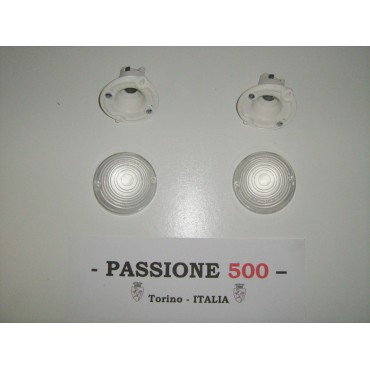 COUPLE OF WHITE FRONT LAMP FIAT 500 F L R GIARD