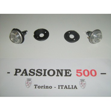 COUPLE OF WHITE SIDE TURN LAMP FIAT 500