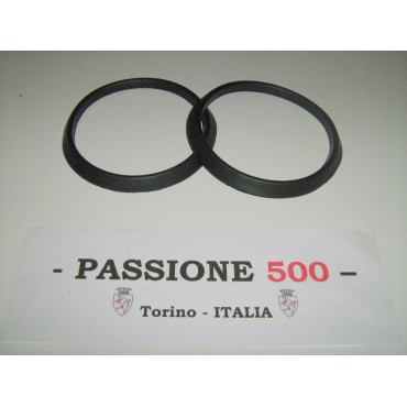 COUPLE OF FRAME RUBBER GASKET FOR HEADLAMPS FIAT 500