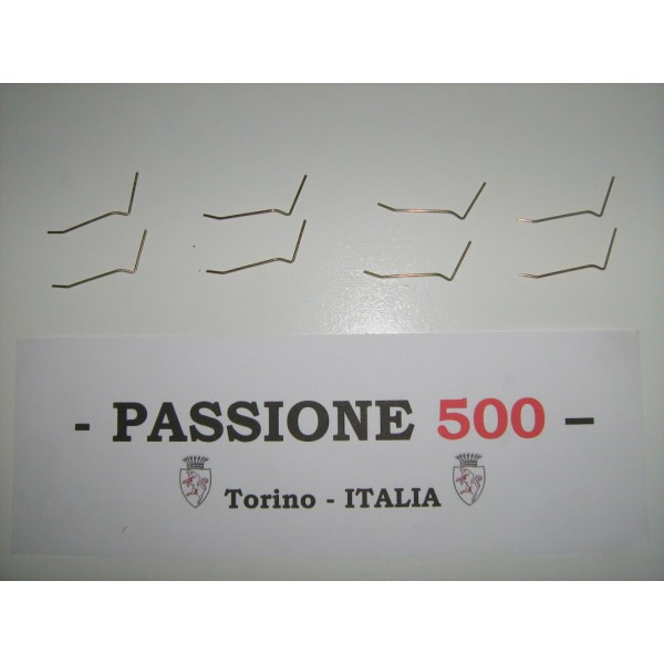 """KIT OF 8 CLIPS TYPE """"B"""" FOR HEADLAMPS FRAME FIXING FIAT 500"""