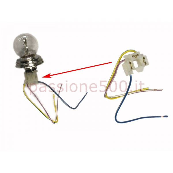 BULB CONNECTOR FOR HEADLAMPS FIAT 500 F L R GIARD