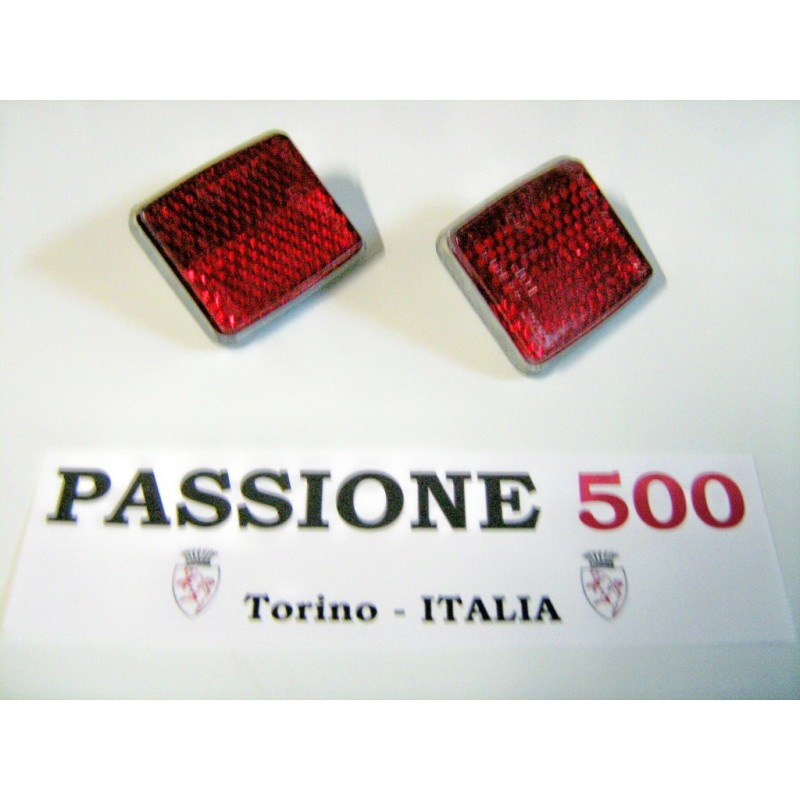 COUPLE OF REFLECTOR FOR TAIL LAMPS FIAT 500 N D GIARD