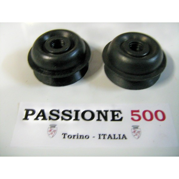 COUPLE OF REAR RUBBER BOOTS FOR HEADLAMPS FIAT 500 F L R GIARD