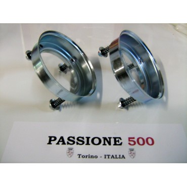 COUPLE OF REAR SUPPORT OF HEADLAMPS FIAT 500 N D