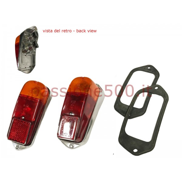 COUPLE OF COMPLETE REAR TAIL LAMPS FIAT 500 N D