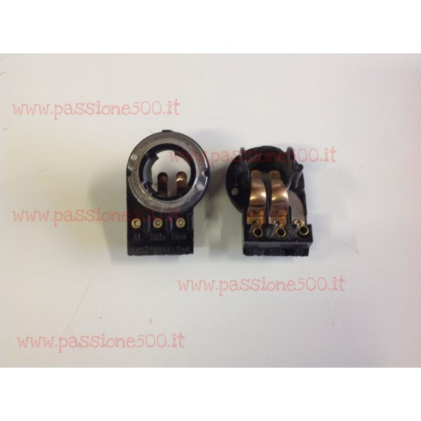 COUPLE OF BULB SUPPORTS FOR HEADLAMPS TYPE CARELLO FIAT 500 D