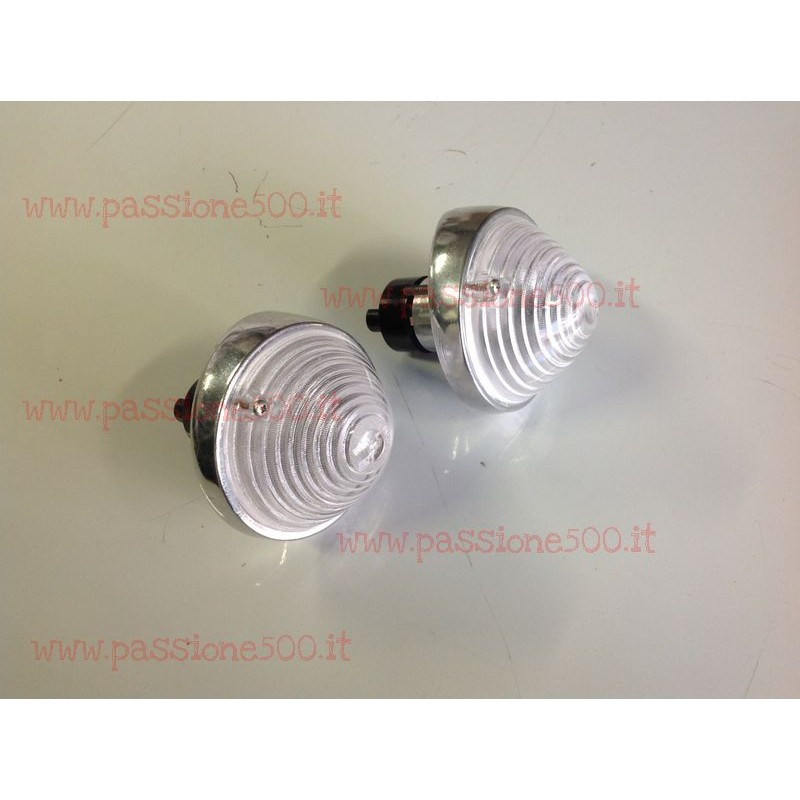 COUPLE OF COMPLETE FRONT LAMPS FIAT 500 N D