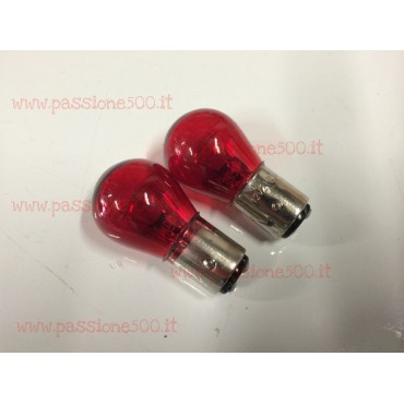 COUPLE OF RED BULBS AT DOUBLE FILAMENT 12V 21/5W FIAT 500