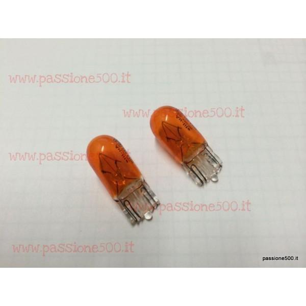 COUPLE OF ORANGE BULBS FOR SIDE TURN LAMP 12V 5W FIAT 500