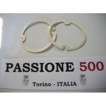 COUPLE OF FRONT LAMP LENS GASKET FIAT 500 F L R GIARD