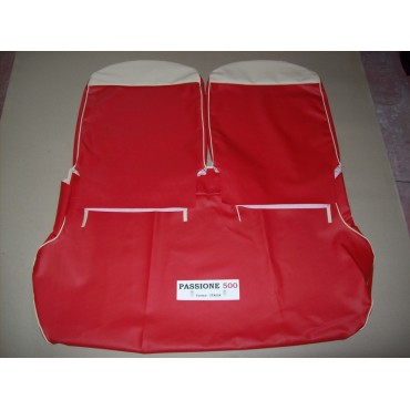COMPLETE RED SEAT COVERS FIAT 500 D until 1962