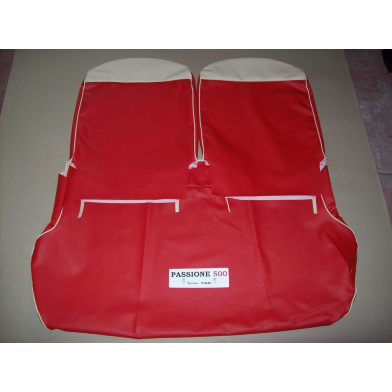 COMPLETE RED SEAT COVERS FIAT 500 GIARDINIERA