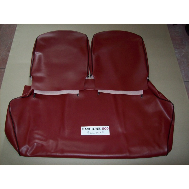 COMPLETE DARK-RED SEAT COVERS FIAT 500 F to 1968