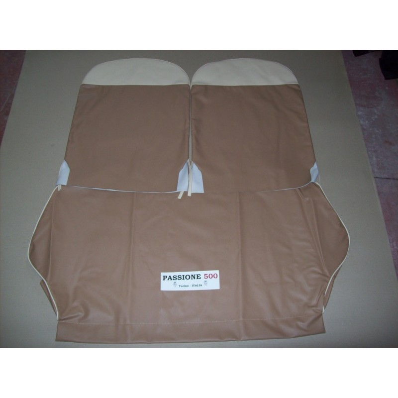 COMPLETE BROWN SEAT COVERS FIAT 500 F until 1968