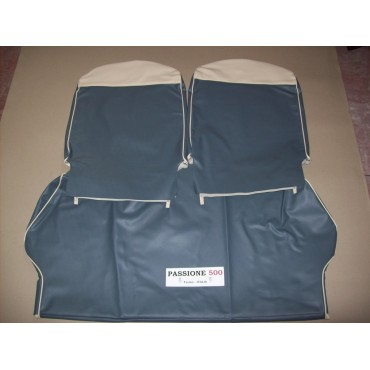 COMPLETE BLUE SEAT COVERS FIAT 500 F until 1968
