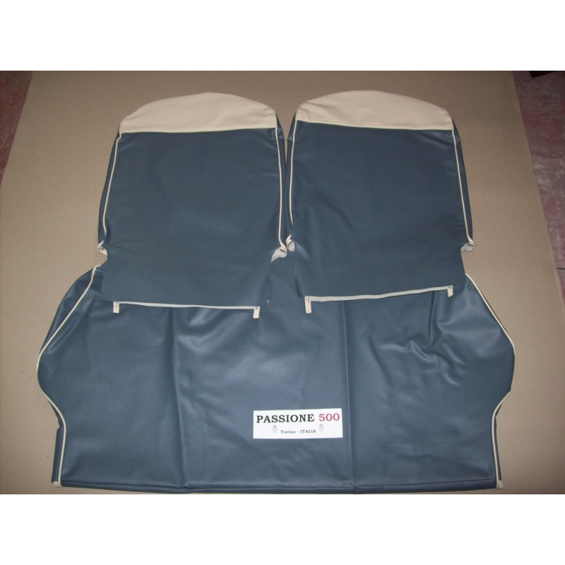 COMPLETE BLUE SEAT COVERS FIAT 500 GIARDINIERA