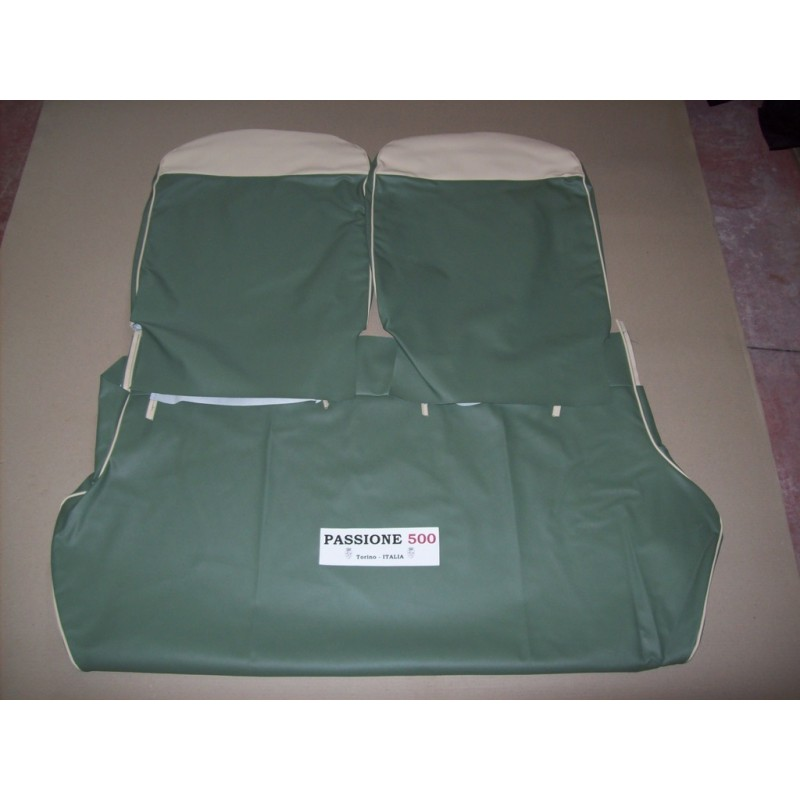 COMPLETE GREEN SEAT COVERS FIAT 500 GIARDINIERA