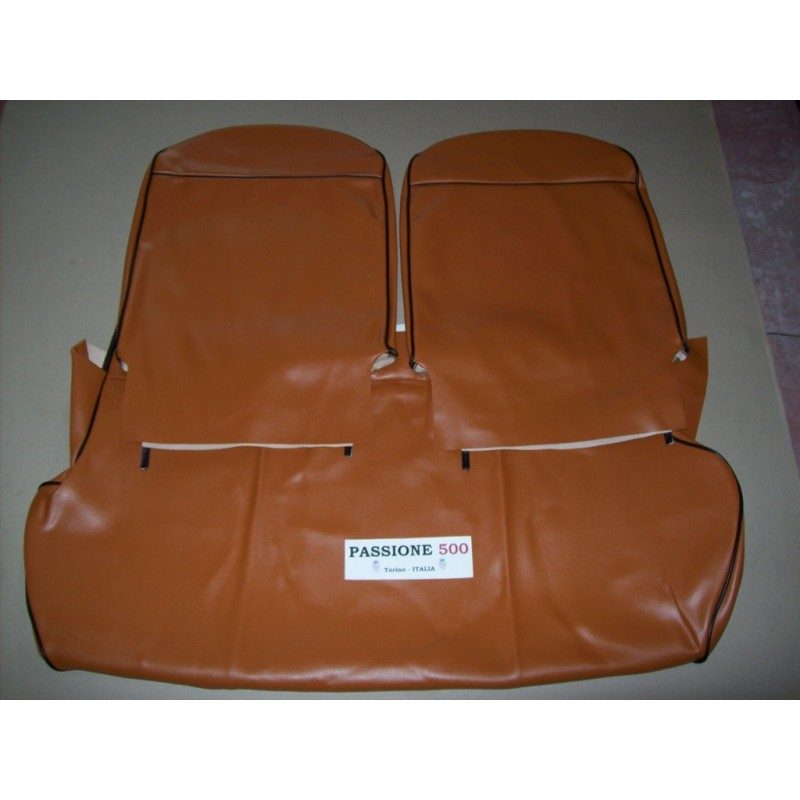 COMPLETE BROWN SEAT COVERS FIAT 500 F to 1968