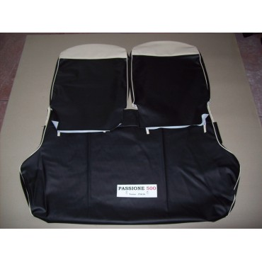 COMPLETE BLACK SEAT COVERS FIAT 500 D