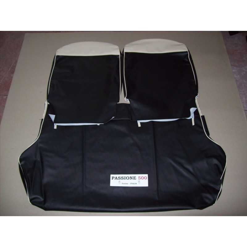 COMPLETE BLACK SEAT COVERS FIAT 500 F until 1968