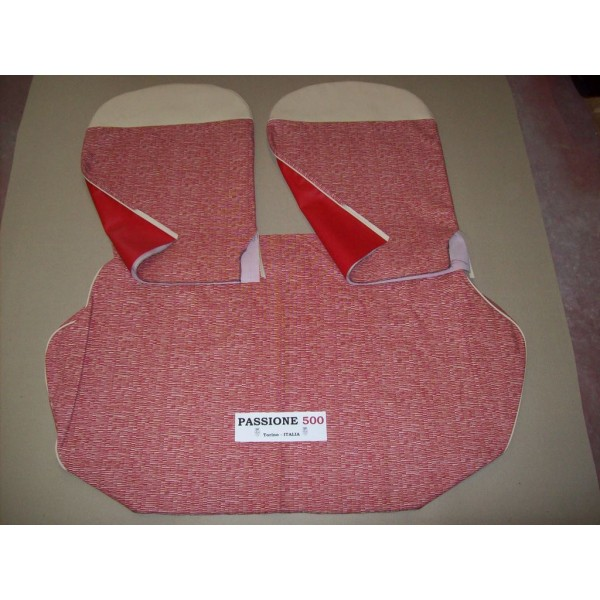COMPLETE RED SEAT COVERS FIAT 500 D to 1963
