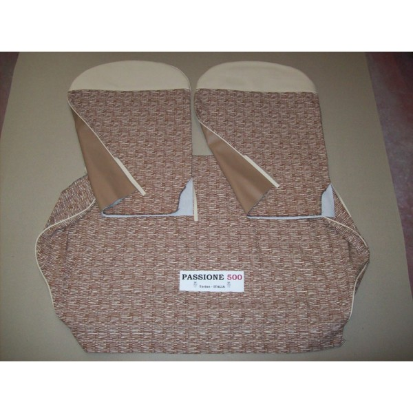 COMPLETE BROWN SEAT COVERS FIAT 500 D to 1963