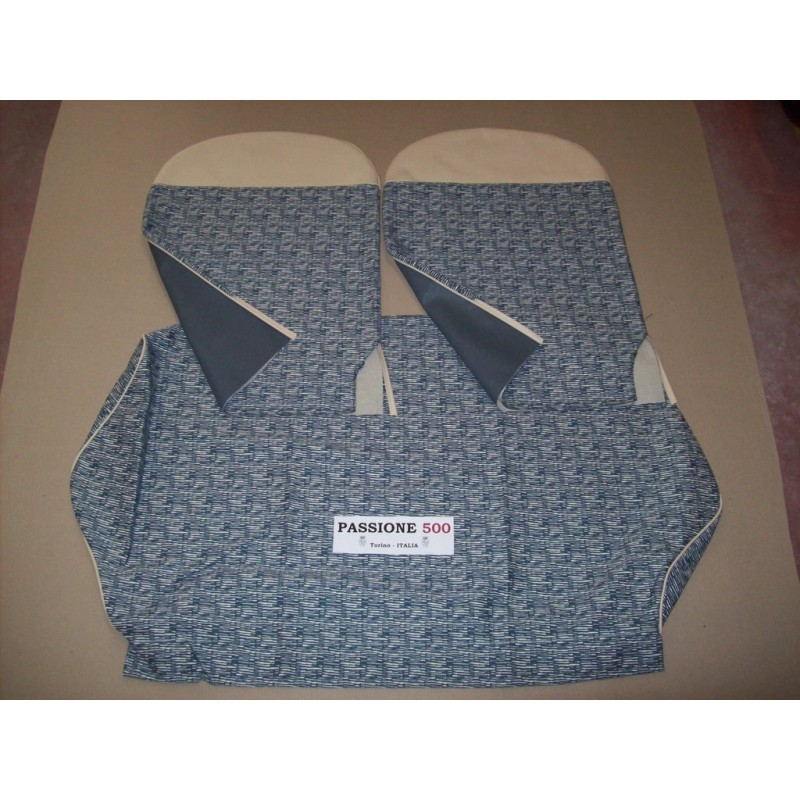 COMPLETE BLUE STRIPED SEAT COVERS FIAT 500 F until 1968
