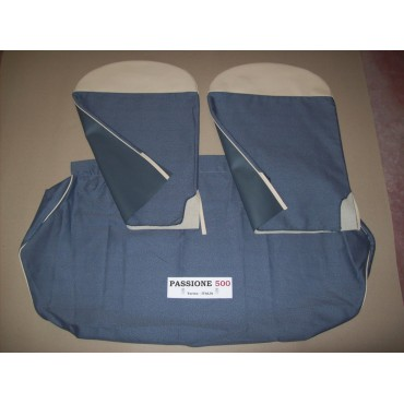 COMPLETE BLUE SEAT COVERS FIAT 500 D 1° SERIES