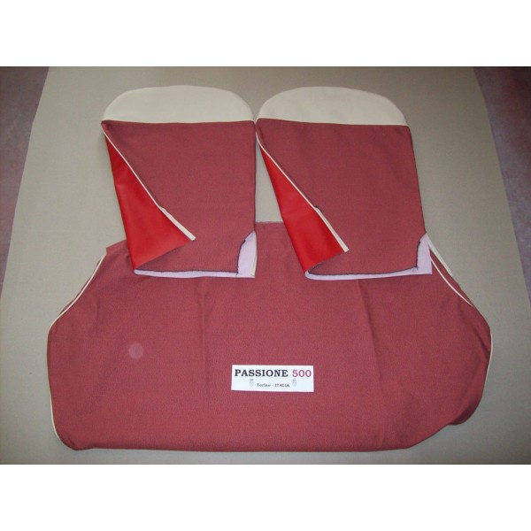 COMPLETE RED SEAT COVERS FIAT 500 N