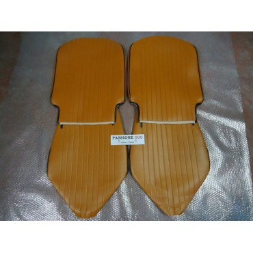FRONT BROWN SEAT COVERS FIAT 500 L