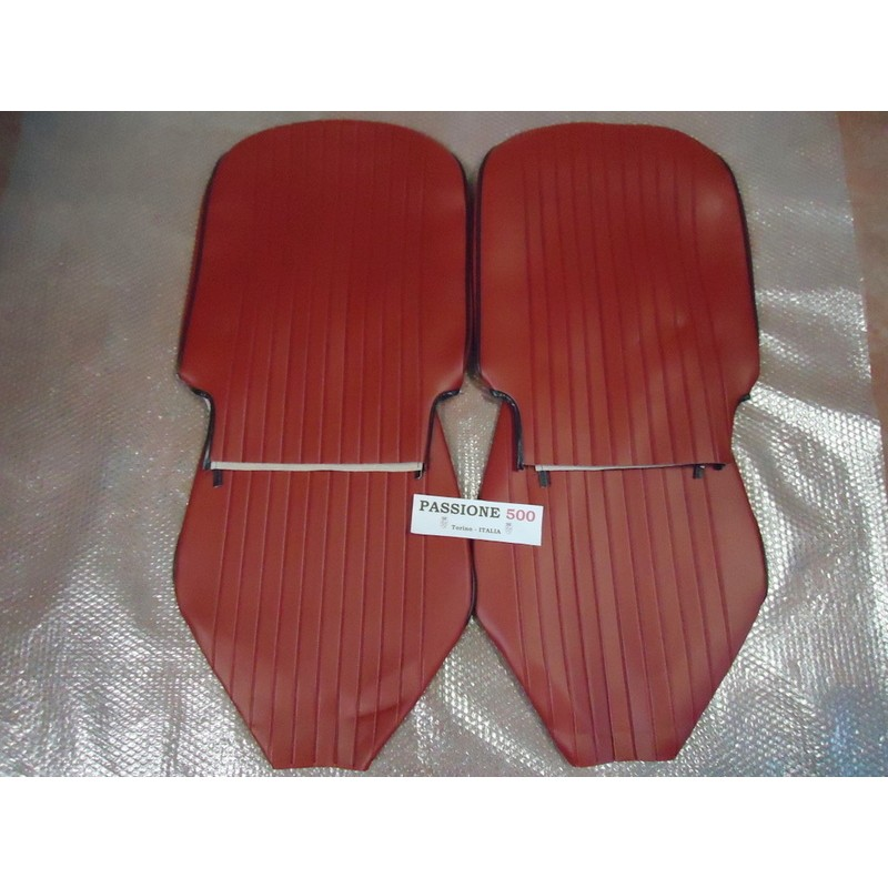 FRONT DARK-RED SEAT COVERS FIAT 500 L