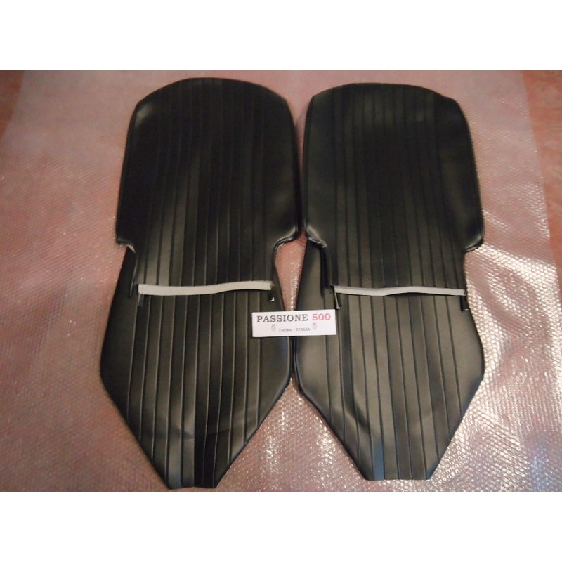 FRONT BLACK SEAT COVERS FIAT 500 L