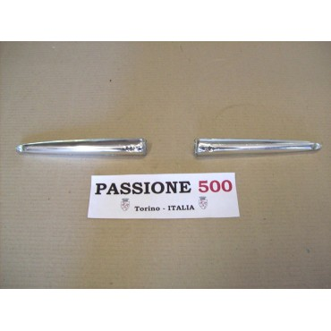 COUPLE OF ALUMINIUM WING FOR CENTRAL EMBLEM FIAT 500 N D